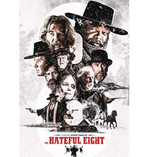 DPFRY Leinwandbilder The Hateful Eight Quentin Tarantino Klassische Filmkunst Poster Wohnkultur 40 cm x 60 cm Ohne Rahmen