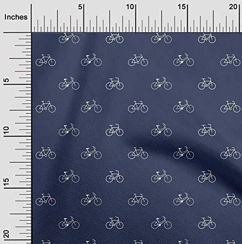 oneOone Algodón Flex Bicicleta Tela Tela De La Impresión De Transporte Por Yarda 40 Pulgadas De Ancho