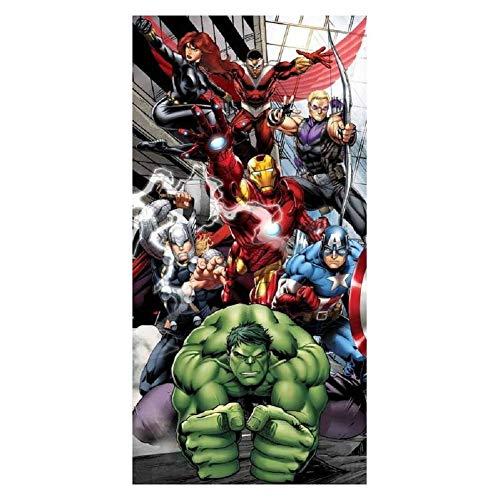 Thor Drap Serviette de Plage Bain Avengers Endgame Marvel Hulk Captain America