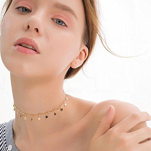 Nieuwe Vrouwen Mode Gouden Vijf Puntige Ster Korte sleutelbeen Ketting Choker Voor Vrouwelijke Gift