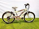 CINZIA - Bicicleta de 20 pulgadas Quicker con cambio de 6 V, color blanco y negro