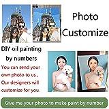 ¡Guauu! Pintura Por Números Para Retrato Boda Familia Mascotas Fotos Pintura Digital Personalizada Pintura Por Números En Pinturas Sobre Lienzo