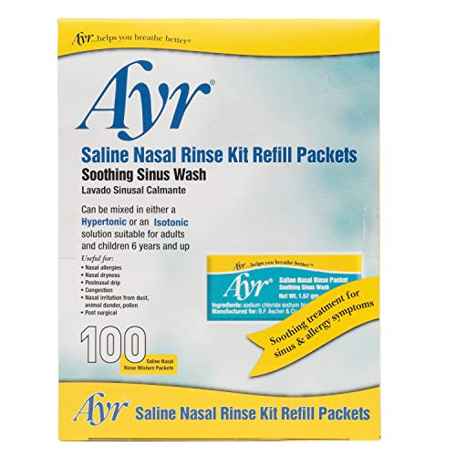 Ayr Saline Nasal Rinse Kit Refill Packets,...