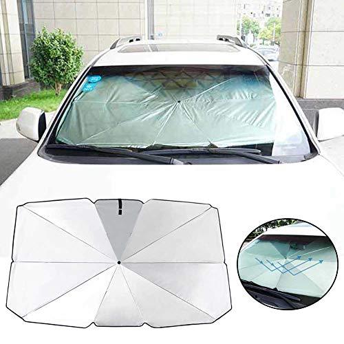 Car Windshield Sun Shade Umbrella, Foldable Car Sun Umbrella Block Heat UV, Car Umbrella for Front Window Windshield Sun Protection, Visor Heat Shield Cover