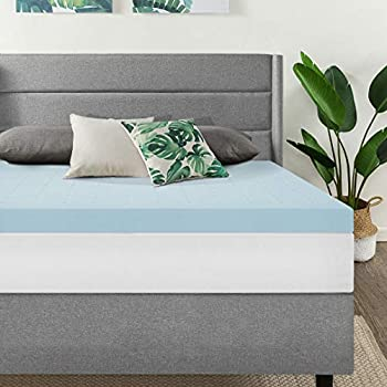 Best Price Mattress 3 Inch Ventilated Memory Foam Mattress Topper Cooling Gel Infusion CertiPUR-US Certified King