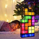 Tetris Lamp Stackable Night Light,Puzzle Lamp 7 Colors led Blocks DIY Tangram Desk Light,Novelty lamp Decoration Night Light, Super Bright, Looks Great As Can Be Graet Fun for Kids