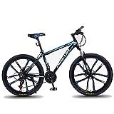 """Kays Mountainbike 26"""" Mountainbikes 24/27/30 Geschwindigkeiten Frauen/Männer Bike Leichtes Aluminium Rahmen Fully Scheibenbremse (Color : Blue, Size : 24speed)"""