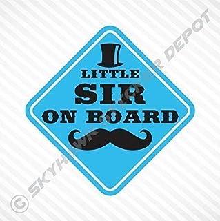Little Sir On Board Vinyl Decal Bumper Sticker Baby Boy Sticker Car Truck Van Window Sticker Self Adhesive Vinyl Car Sticker Baby On Board Sticker Mustache Sticker Top Hat Sticker