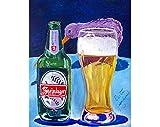 Steinlager Beer Poster, Kiwi Bird Painting, New Zealand