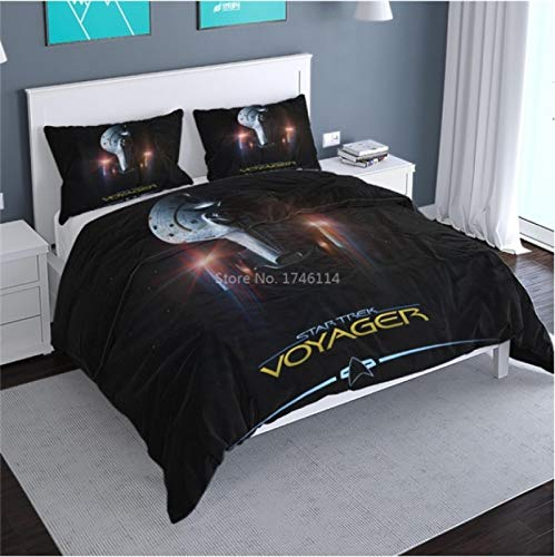 Vscdye Star Trek Movie Film 3D-Gedruckte Bettwäsche-Set Tröster Bettbezug Kissenbezüge Set Bettwäsche Home Textile173X218Cm