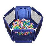 JINHUADAI Tragbare Laufstall playpens Zaun Portable Spiel-Center waschbar atmungsaktive Mesh-Babyschritt Innen- und Außensicherheitszaun Spiel