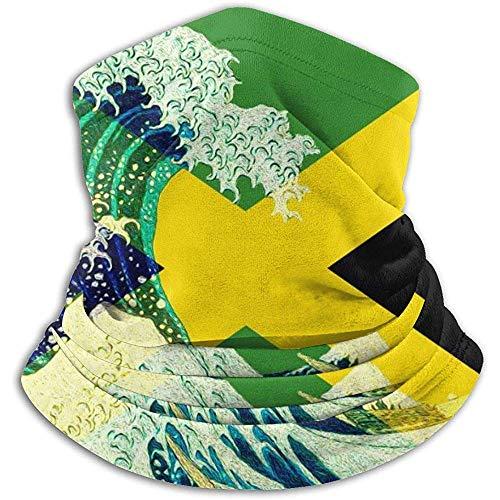air kong Schal Jamaika-Flagge und Welle Weg vom Kanagawa-Ansatz-Gamasche-magischen Stirnband-Sturmhauben-Hauben-Unisexmaske Bandana-Winter-warme Kopfbedeckung