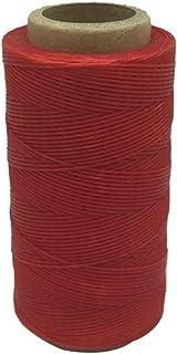 Yulakes 260 Meter 1mm Leder gewachst Wachs Thread Cord Naehgarn Fuer meissel Schuhe gepaeck setzen rote