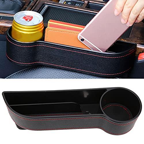 Okuyonic Caja de Almacenamiento para el automóvil Durable, Resistente al Desgaste y Antideslizante Estabilidad Fuerte Tazas de té multifuncionales para teléfonos móviles(Black co-Pilot, 12)