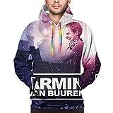 Sudadera con capucha Armin Van Buuren para hombre, color negro
