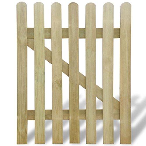 Xingshuoonline Barrière de jardin en bois Garden Gate 100 x 120 cm de portillon avec bretelles Barres de verticale et horizontale solide afin de renforcer le cadre