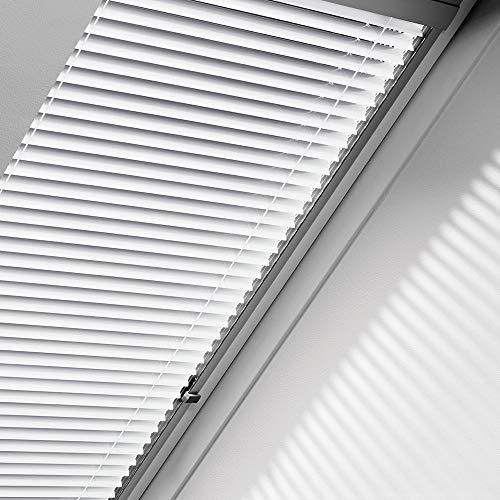 Orignal VELUX Jalousie / Jalousette PAL Y33 7057S / Bedienart : Manuell / Farbe : Uni Silber / Fenstergröße : Y33 / Fenstertypen : VU, VL, VKU _21223