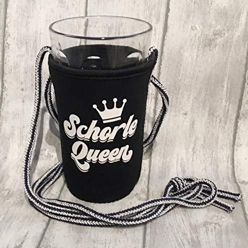 Schorle Queen Dubbeglashalter (Schwarz/Schrift weiß)