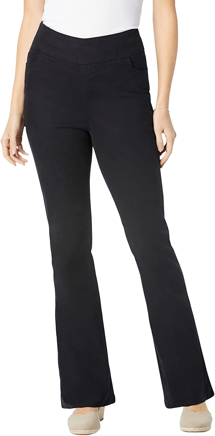 Woman Within Women's Plus Size Tall Pull-On Bootcut Jean