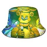 Juego Five Nights at Freddy Fisherman's Hat Sombrero para el Sol - Protección Ultravioleta y Transpirable Gorra de Cubo de ala Ancha para exteriores-3L
