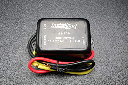 (1) Noise Filter 30 AMPS 12V HUM Filter Noise Engine Suppressor Wire IBNF30
