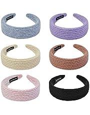 YMHPRIDE Diadema ancha de lana para mujer, nueva banda de pelo antideslizante de lana de moda y accesorios para el cabello Diademas de turbante Bonitas bandas para el cabello