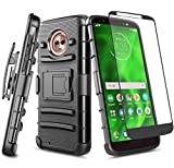 E-Began Moto G6 Case with Tempered Glass Screen Protector,