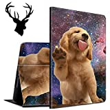 Case for All-New Amazon Kindle Paperwhite (10th Generation, 2018 Releases), Slim Auto Wake/Sleep Protective Smart Cover Case with a Sticker (Deer Head), Galaxy Pug Dog