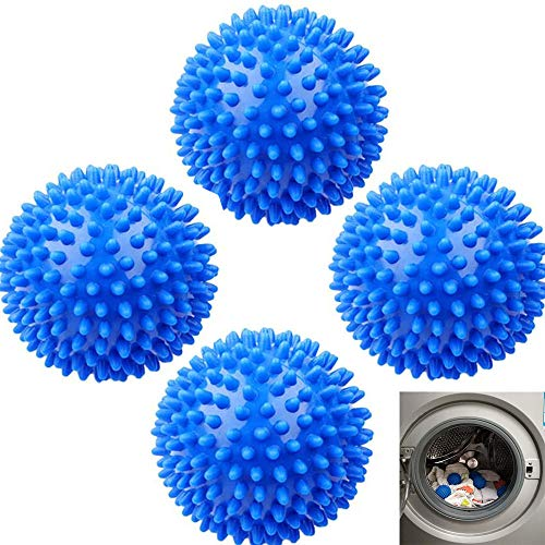 TSKDKIT 4 Stück Trocknerbälle Trocknerkugeln für Wäschetrockner Wiederverwendbar Wäschetrocknerkugeln zum Beschleunigen des Trocknens und Reduzierens von Falten für Kleidung