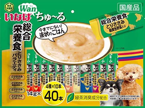 いなば 犬用おやつ ちゅ~る 総合栄養食 とりささみバラエティ 14g×40本