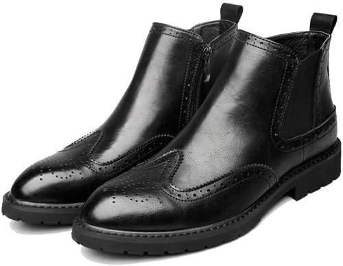 AEYMF botas De Cuero De Los hombres De Chelsea botas De Los hombres Retro Conjunto botas De Pie