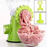 Bugucat Picadora manual de carne, cortador de salchichas, cuchillas de acero inoxidable de alto rendimiento con base de succión potente, utensilio de cocina para carne picada, verduras, frutas, etc.