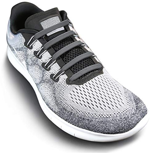 No Tie Shoelaces For Adults and Kids Gray