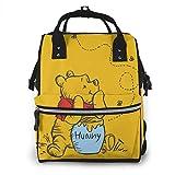 GXGZ Sac à dos sac à langer - Winnie l'ourson multifonctionnel étanche sac à dos de voyage maternité bébé nappe...