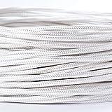 Cable textil revestido de plástico, cable de alimentación / 3 hilos 3 x 0,75 mm² con toma de tierra, accesorios de lámpara (5 m), color blanco