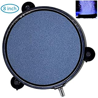 AquaticHI Large Round Disc Air Stone/Diffuser for Oxygenation in Fresh/Saltwater Tanks, Ponds, Hydroponic, Aquaponics, and as a Decorative Airstone for Aquariums