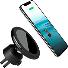 Wireless Car Charger Mount Magnetic Phone Holder, Qi 10W Fast Charging Pad, Dashboard & Windshield Car Mount Charger for iPhone X/XR/Xs/Xs Max, 8/8 Plus, Samsung S7/S8+/Note 7 & Qi Enabled Devices