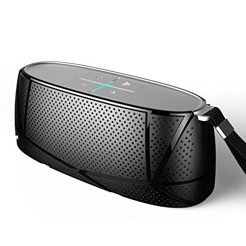 Meidong MD-05 Bluetooth Speakers Premium Stereo Portable Wireless Speaker with Patented Enhance Bass for Beach Yoga Gift(Black)