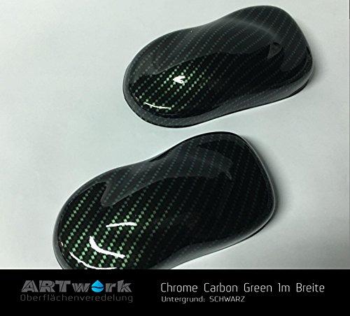 Wassertransferdruck Starterset ARTwork 1qm Chrome Carbon Green 100cm Breite