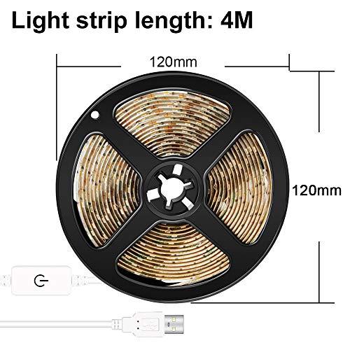 Wandlamp, lamp USB LED make-upspiegellamp DC 5V cosmeticaspiegel plakband LED lichtstrip 1M 2M 3M 4M 5M dimbare kaptafellichten Kit