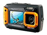 Easypix W1400 Active - Cámara de fotos subacuática (doble pantalla, 20 MP,zoom 4x, sumergible...