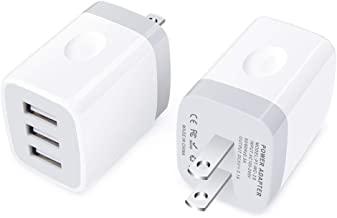 USB Wall Charger, Charger Plug, 2Pack 3.1A Travel 3-Port Phone Charger Box Charging Block Cube Compatible with iPhone 11/11 Pro Max/XS MAX/XR/X/8 Plus, Samsung Galaxy Note 10/9/S10 S9 S8 Plus A20 A50