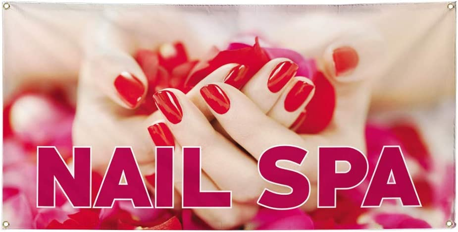 Vinyl Banner Multiple Sizes Nail Spa C Advertising Excellent Print Max 41% OFF Outdoor