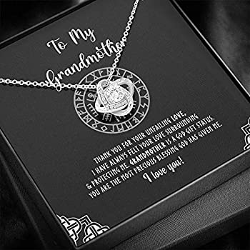 To My Grandmother Love Knot Necklace mother s day gift for her Mother s Day Grandma Necklace From Grandkids Necklace with Message Card - Gift1010