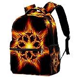 Mochila duradera para niños y niñas, con estrellas en fondo azul oscuro, mochila escolar, mochila ligera, gran mochila, The Burning Hexagon Stars,