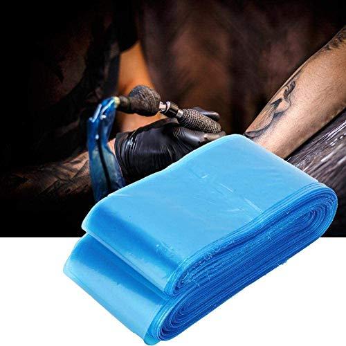 FDCJK 300PCS Jetables Manchons De Protection pour Tattoo Cord, Clip De Sacs De Couverture pour Sacs De Câble, Tattoo Machine Accessoires,Bleu