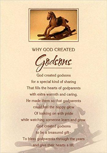 Rocking Horse in Die Cut Window: Godson - Designer Greetings Birthday Card