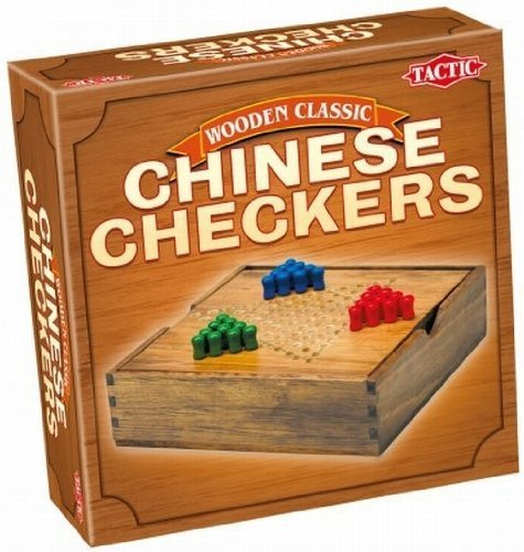 Classic Chinese Checkers - Wood by Tactic Games UK