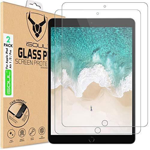 iSOUL Displayschutzfolie Panzerglasfolie für iPad Pro, iPad Air 3 Panzerglas [2 Stück] Schutzfolie für iPad Air 3 10.5 (2019) iPad Pro 10.5 (2017) Folie schutzfolie 9H HD (10,5 Zoll Modell)