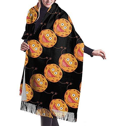 Archiba Unisex Large Cashmere Scarf Kekse Waschbär Mode Soft Pashmina Schal Wrap